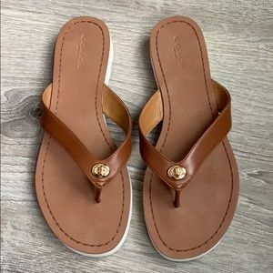 f4c1a86ccfaf Coach. NWOT Coach Shelly Leather sandal.  50  90. Size  8 · Coach ·  r8rgirl4life r8rgirl4life. 29. Coach · COACH Shelly Tan Leather Flip Flop  Sandal